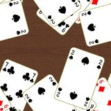 Seamless texture of playing cards Royalty Free Stock Photography