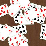Seamless texture of playing cards Stock Photos