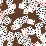 Seamless texture of playing cards Royalty Free Stock Image