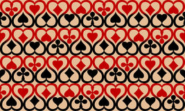 Seamless texture with playing cards Royalty Free Stock Images