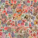 Seamless Texture of Postage Stamps. Stock Photos