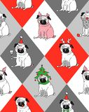 Pug in the year of the pig stock illustration
