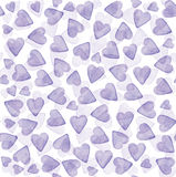 Seamless texture with purple hearts pattern. Royalty Free Stock Photography