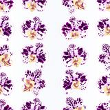 Seamless texture purple-white Spotted Orchids Phalaenopsis beautiful flowers vintage  vector illustration closeup  editable Stock Photos