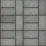 Seamless Texture of Rectangular Gray Paving Slabs Stock Photo
