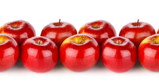 Seamless texture of red apple Stock Images
