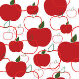 Seamless texture with red apples Stock Images