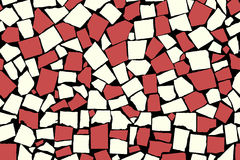 Seamless texture of red asymmetric decorative tiles Stock Photo