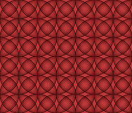 Seamless texture on a red background. Seamless texture: black circles on a red background Stock Photography