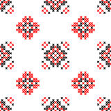 Seamless texture with red and black abstract flowers Royalty Free Stock Image