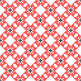 Seamless texture with red and black abstract flowers. Seamless texture with red and black abstract patterns for tablecloth.Embroidery.Cross stitch Royalty Free Stock Photos