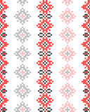 Seamless texture with red and black abstract patterns Stock Images