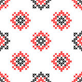 Seamless texture with red and black abstract patterns Stock Photo