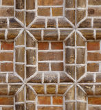 Seamless texture red brick frame wall Royalty Free Stock Image
