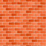 Seamless texture. Red brick white wall. Stock Photography
