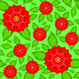 Seamless texture of red flowers Stock Image