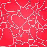 Seamless texture. Red hearts Stock Photo
