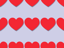 Seamless texture with red hearts Royalty Free Stock Photos