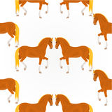 Seamless texture  red horses vector Stock Image