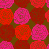 Seamless texture with red roses Stock Images