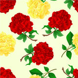 Seamless texture red and tea roses vintage vector Stock Photography