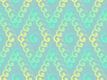 Seamless texture. Repeating pattern , vector illustration , spiral , diamonds , seamless texture , color ornament Stock Photography