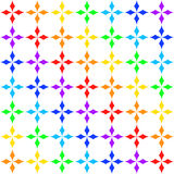 Seamless texture with rhombs in colors of rainbow Stock Photo