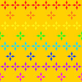 Seamless texture with rhombs in colors of rainbow Stock Photos