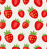 Seamless Texture of Ripe Strawberry Royalty Free Stock Photo