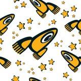 Seamless texture rocket. Seamless texture of cartoon rockets Royalty Free Stock Photo