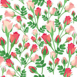 Seamless texture with rose royalty free illustration