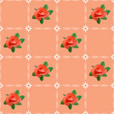 Seamless texture with roses - vector Stock Photography
