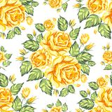 Seamless texture of roses Stock Images