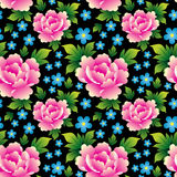 Seamless texture with roses Stock Photography