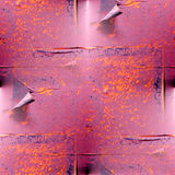Seamless texture rusty red metal plate Royalty Free Stock Photos