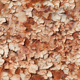 Seamless texture of rusty steel with peeled paint Royalty Free Stock Photo