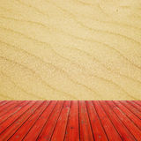Seamless texture of sand beach background. Ready for product display montage. Royalty Free Stock Photo