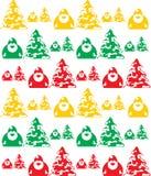 Seamless Texture of Santa Stock Image