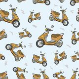 Seamless texture with scooters 2 Stock Photography