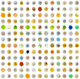 Seamless texture - set of abstract substances. Seamless texture - a set of colored abstract substances on white Stock Photos