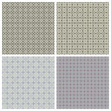 Seamless texture in shades of gray. Set of four seamless patterns in shades of gray Stock Photography