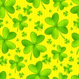 Seamless Texture Shamrock Royalty Free Stock Photos