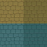 Seamless texture slate roof. Vector illustration. Architecture pattern Stock Images