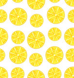 Seamless Texture with Slices of Lemons Stock Image