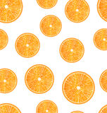 Seamless Texture with Slices of Oranges Stock Photos