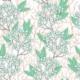 Seamless texture with small blue flowers Stock Photos