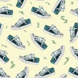 Seamless texture with sneakers 3 Stock Image
