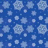 Seamless texture with snowflakes Stock Photos