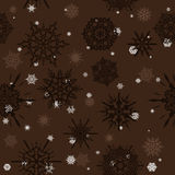 Seamless texture with snowflakes. Stock Photography