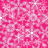 Seamless texture with snowflakes on a pink background royalty free illustration